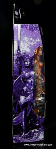 Marvel Legends Angela figure review -package side